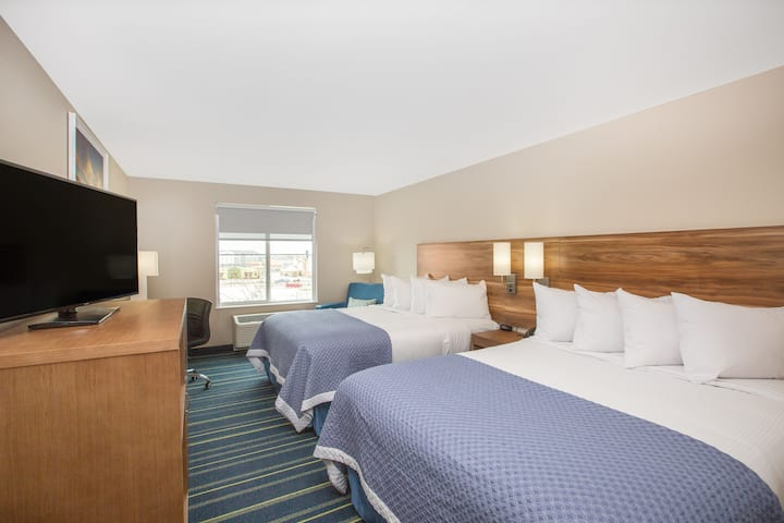 Guest room at the Days Inn & Suites by Wyndham Kearney in Kearney, Nebraska