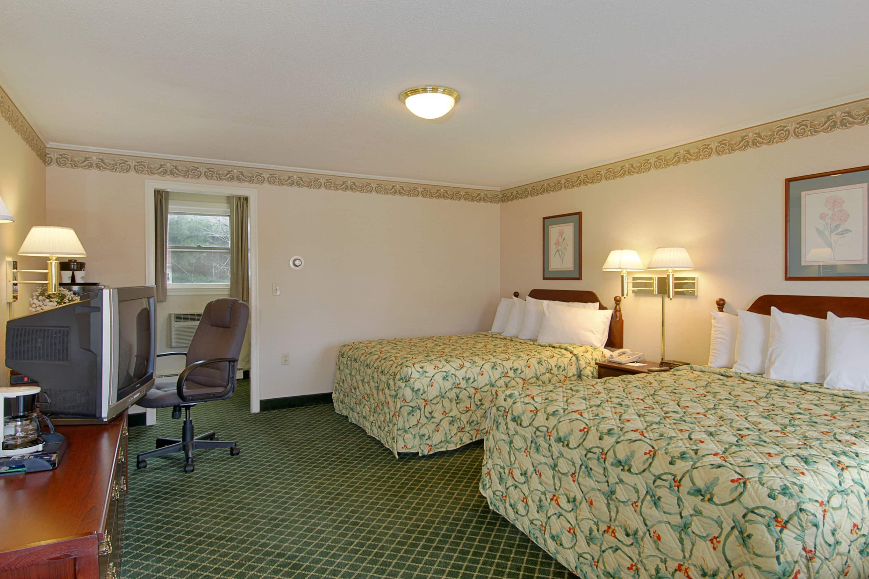 Guest room at the Days Inn Concord in Concord, New Hampshire