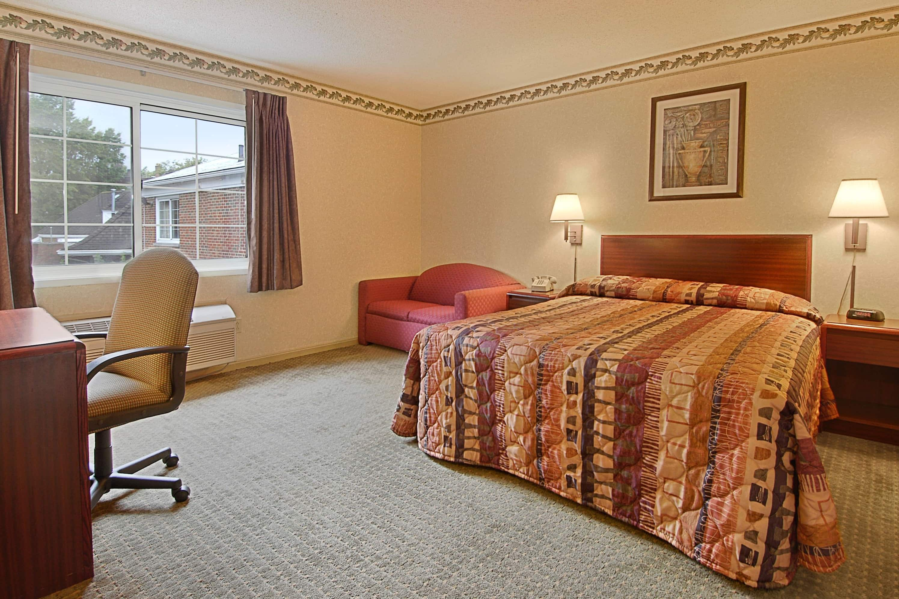 Guest room at the Days Inn Cleveland Lakewood in Cleveland, Ohio