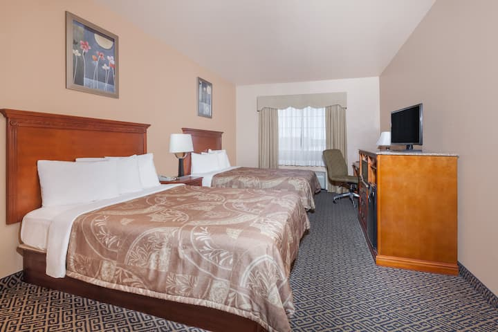 Guest room at the Days Inn & Suites McAlester in McAlester, Oklahoma
