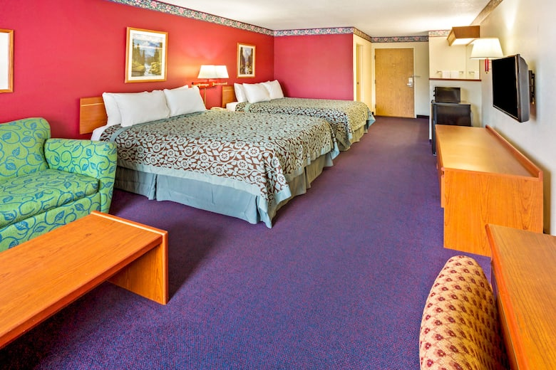 Guest Room At The Days Inn Suites Gresham In Oregon