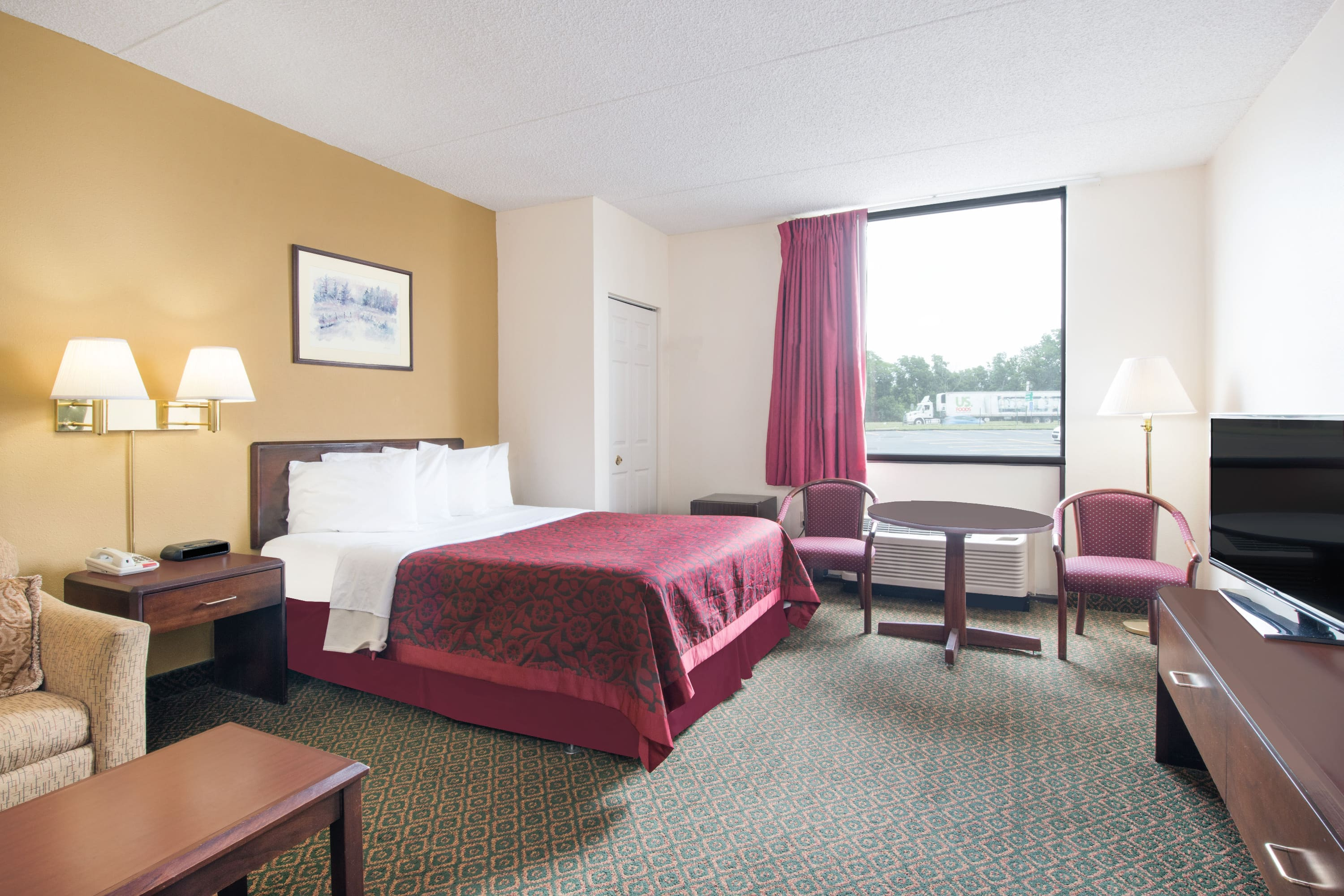 Guest room at the Days Inn Chambersburg in Chambersburg, Pennsylvania