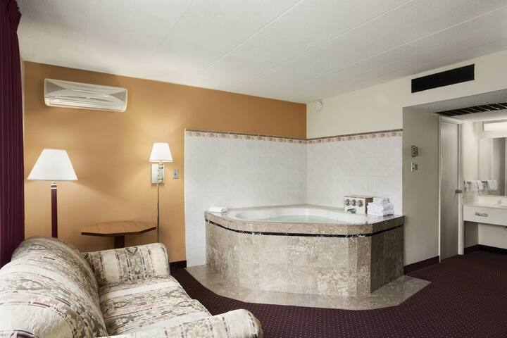 Guest room at the Days Inn New Stanton PA in New Stanton, Pennsylvania