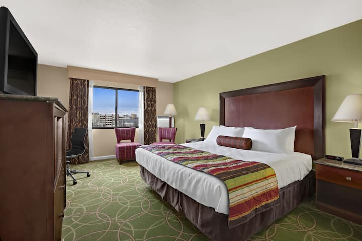 Guest room at the Days Inn Penn State in State College, Pennsylvania