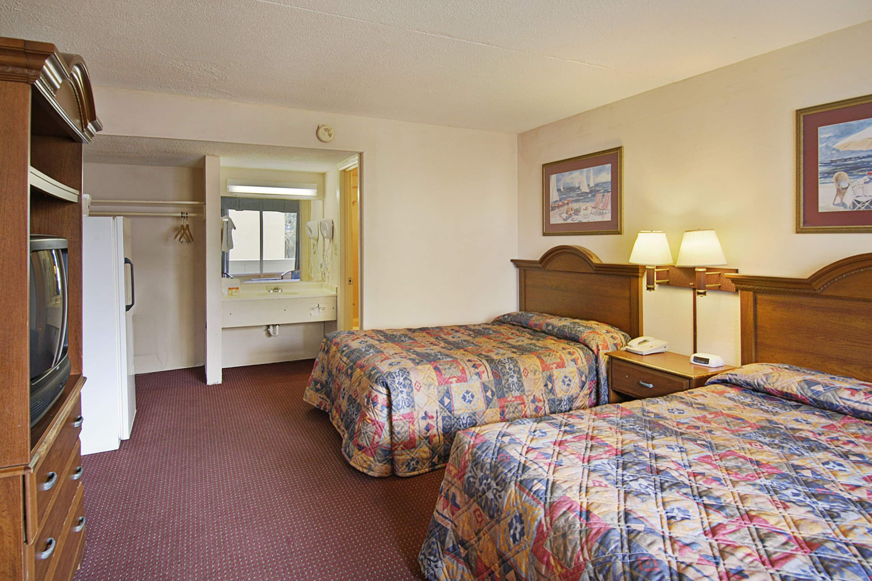 Guest room at the Days Inn Myrtle Beach-Beach Front in Myrtle Beach, South Carolina