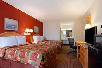 Guest room at the Days Inn Seneca in Seneca, South Carolina