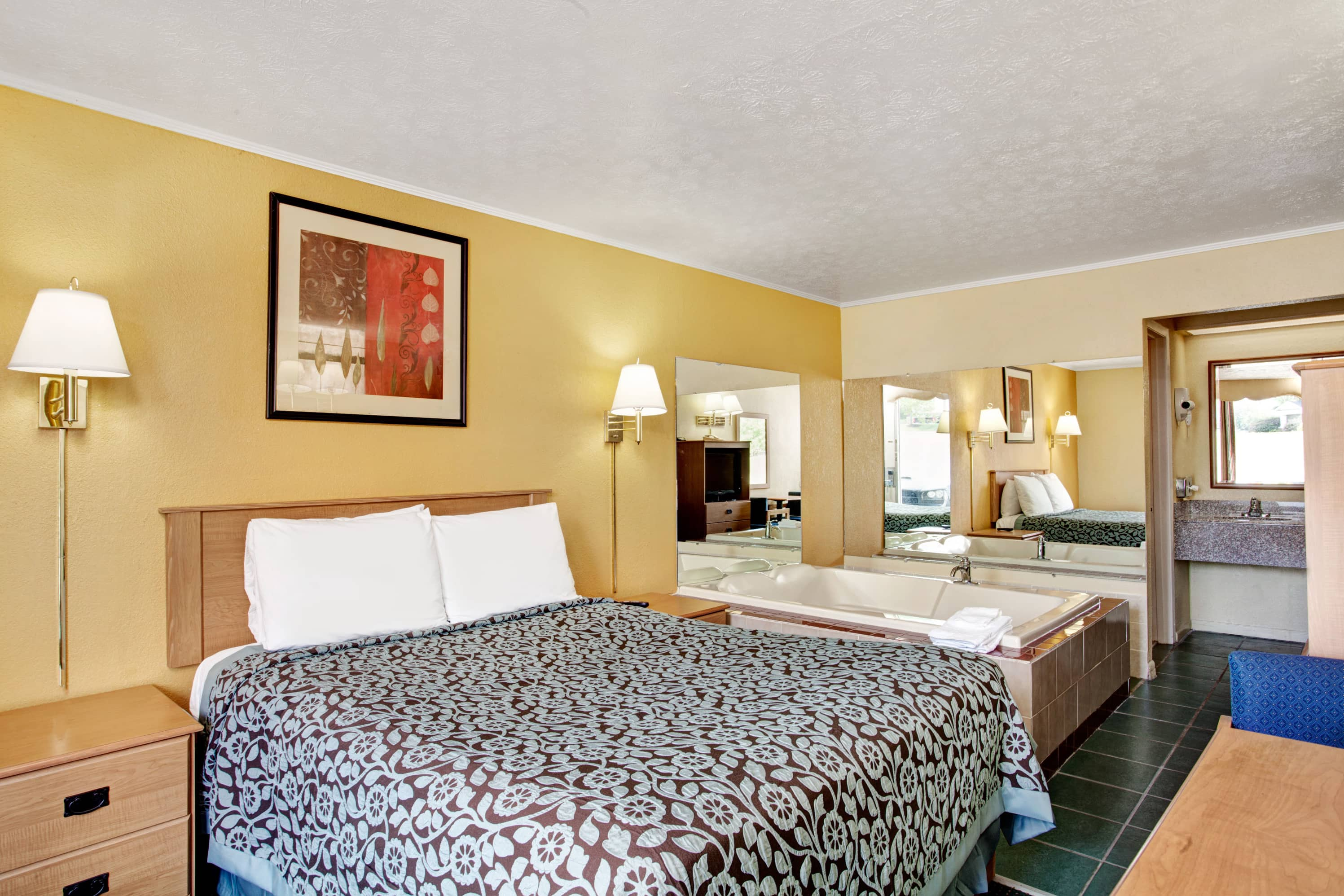 Guest room at the Days Inn Knoxville West in Knoxville, Tennessee