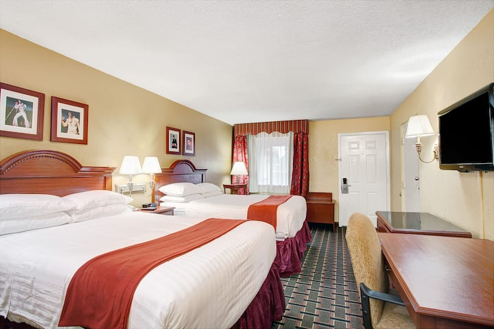 Guest room at the Days Inn Memphis at Graceland in Memphis, Tennessee