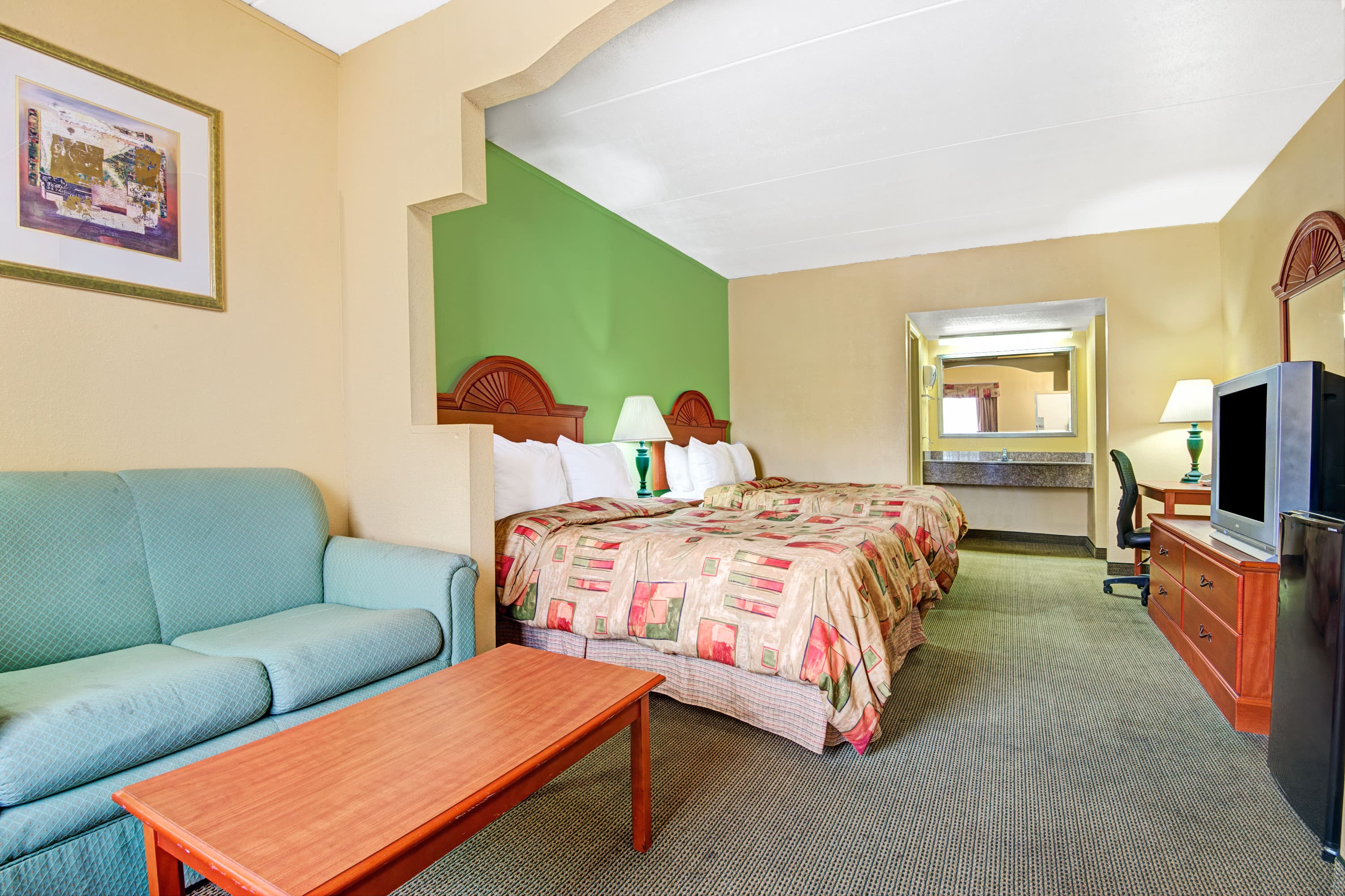 Guest room at the Days Inn Nashville- Airport in Nashville, Tennessee