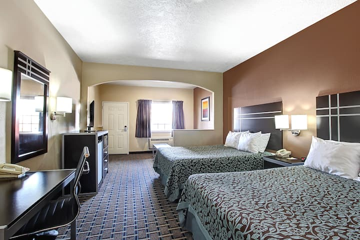 Guest room at the Days Inn & Suites Houston North/FM 1960 in Houston, Texas