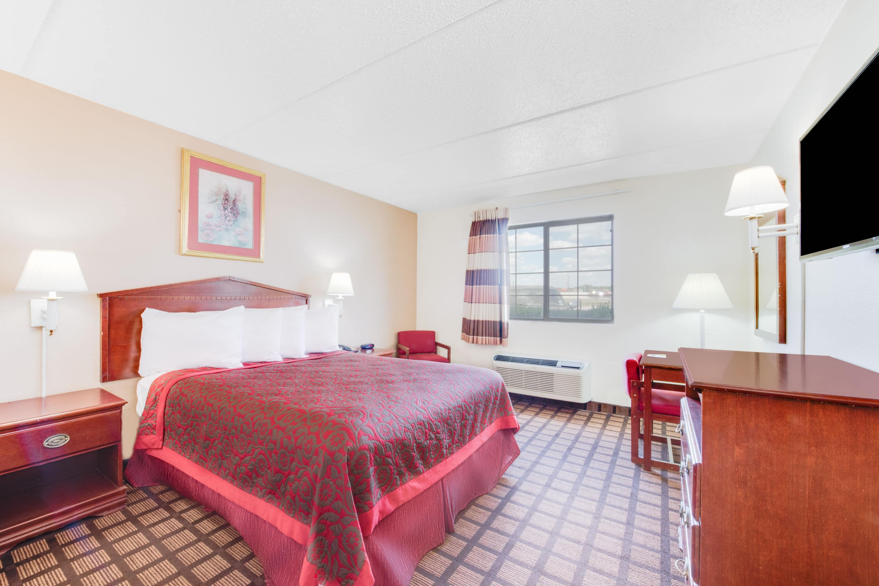 Guest room at the Days Inn & Suites Laredo in Laredo, Texas