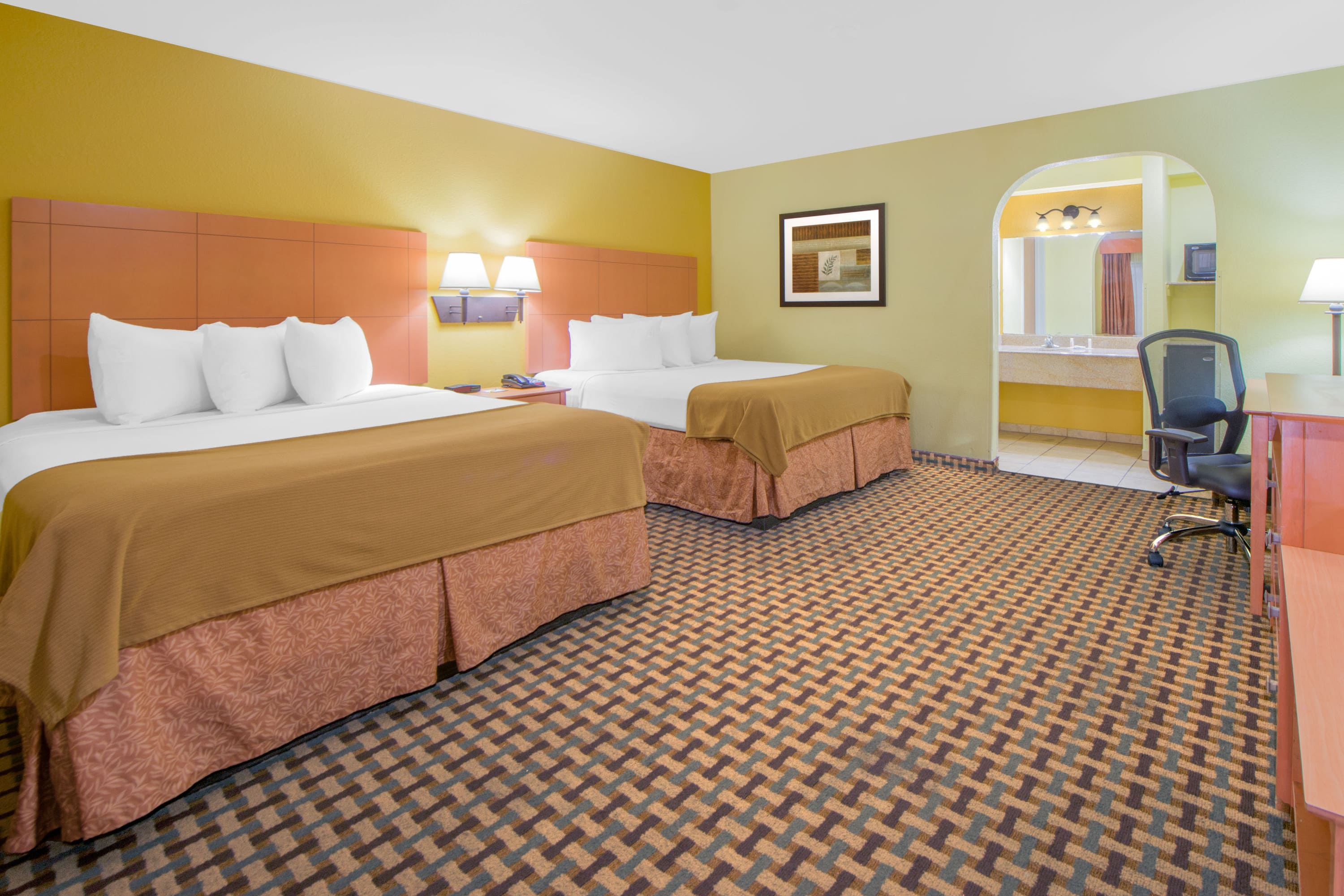 Guest room at the Days Inn Lubbock South in Lubbock, Texas
