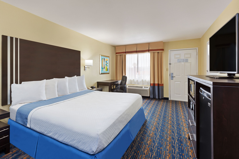 Guest room at the Days Inn San Antonio Northwest/Seaworld in San Antonio, Texas