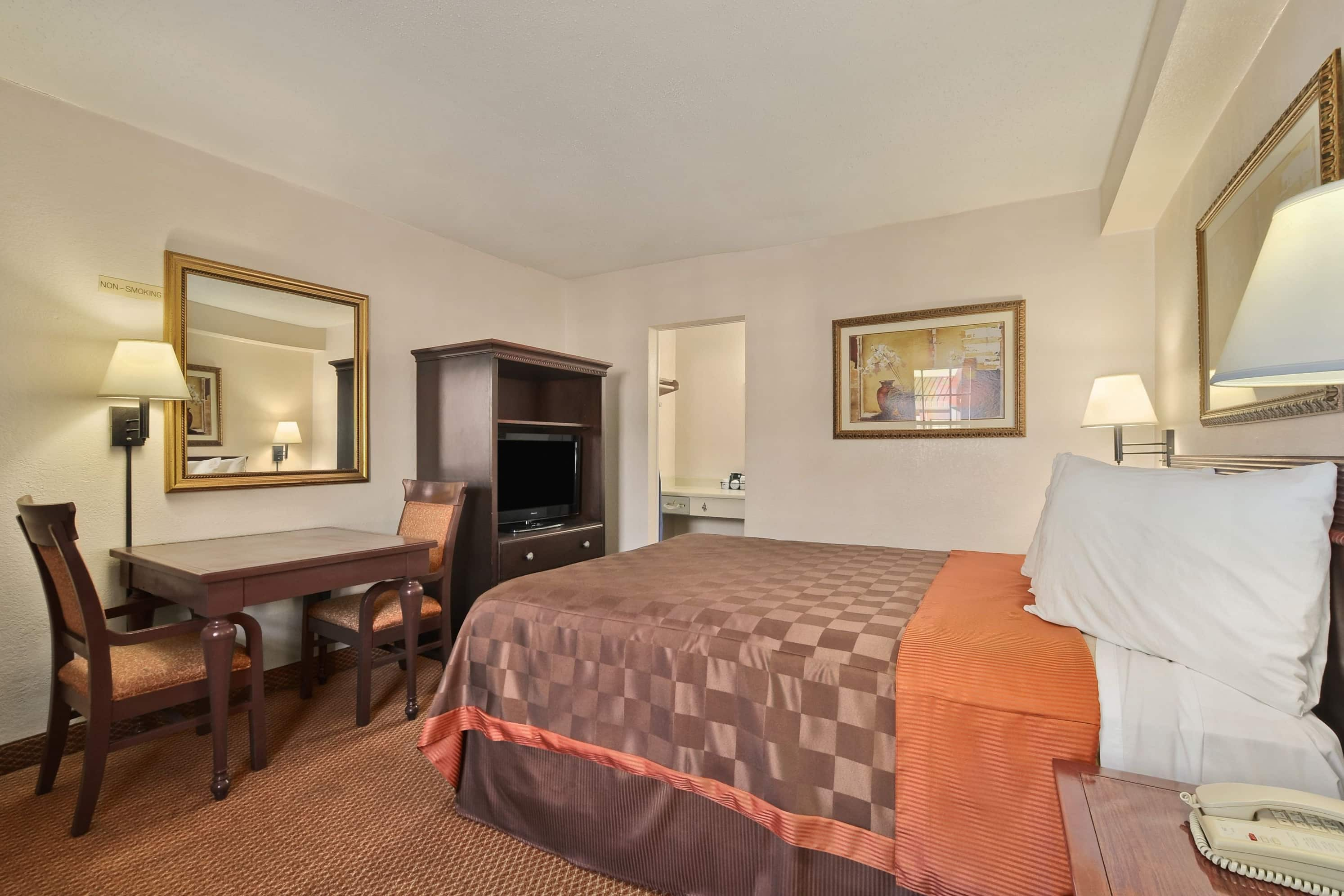 Guest room at the Days Inn San Antonio/Near Lackland AFB in San Antonio, Texas