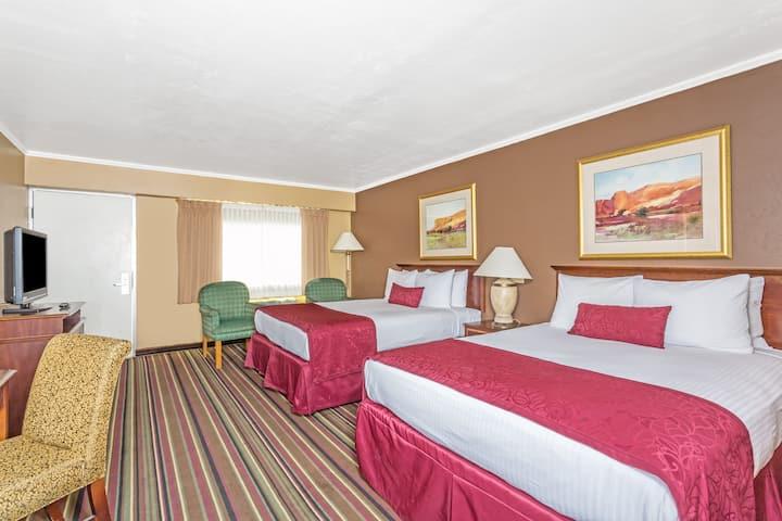 Guest room at the Days Inn & Suites Logan in Logan, Utah