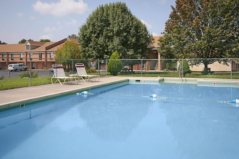Pool At The Days Inn Farmville In Virginia