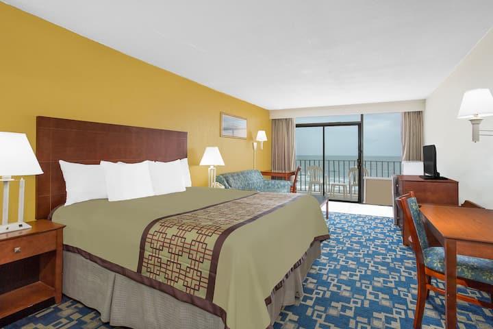 Guest room at the Days Inn Virginia Beach Oceanfront in Virginia Beach, Virginia