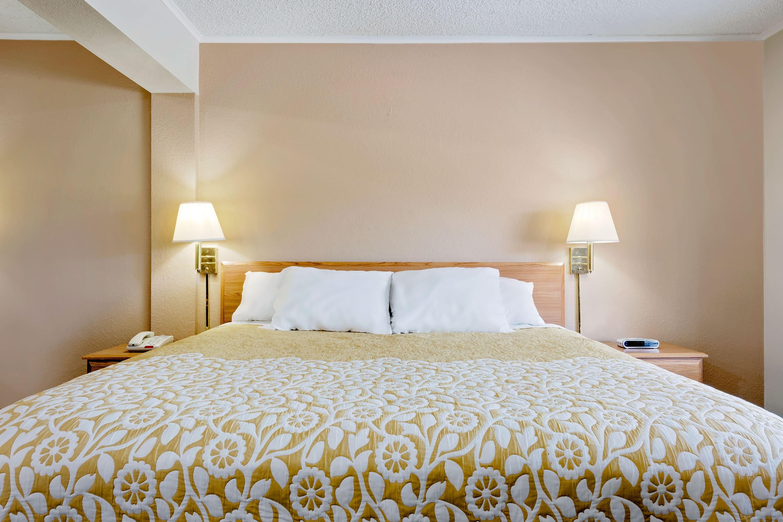 Guest room at the Days Inn Fairmont in Fairmont, West Virginia