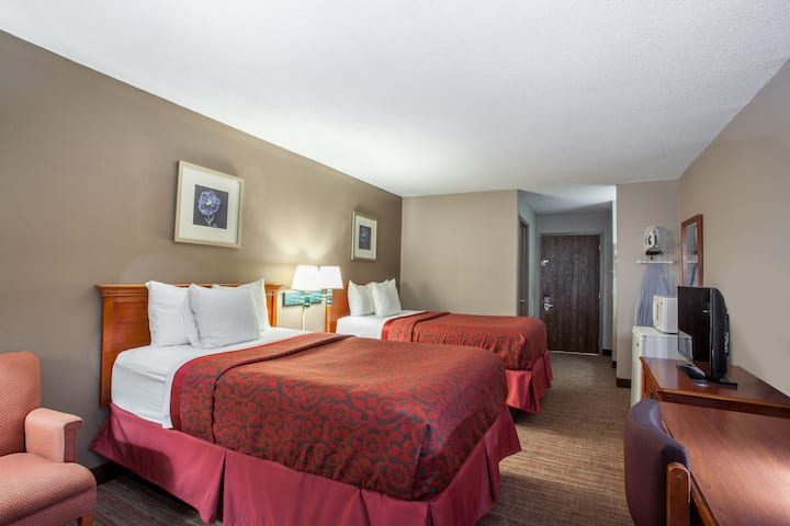 Guest room at the Days Inn Martinsburg in Martinsburg, West Virginia