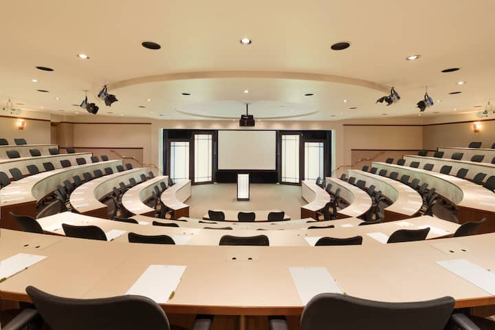 Meeting room at Q Center in St Charles, Illinois