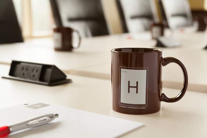 Meeting room at The H Hotel in Midland, Michigan