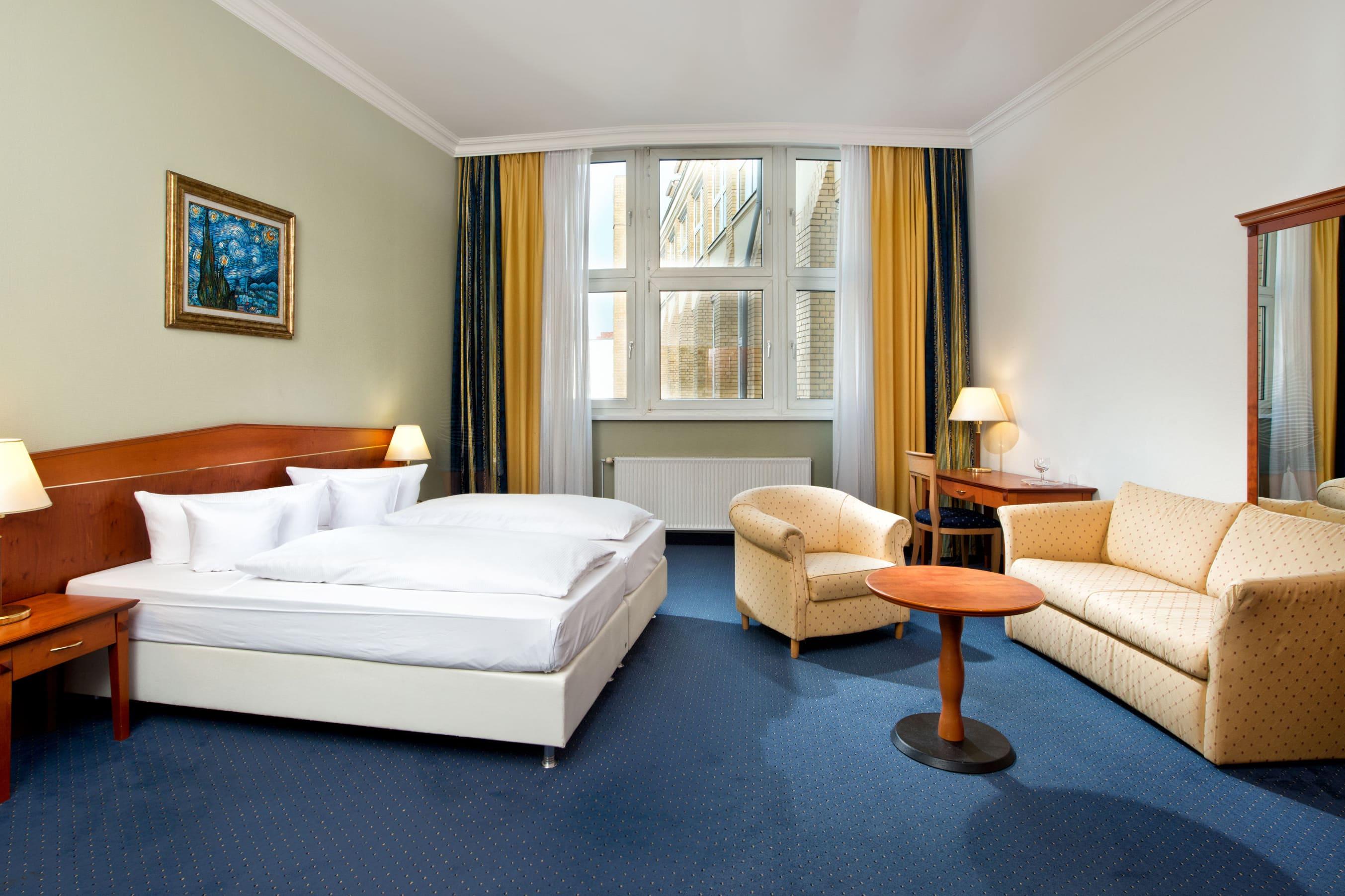 Gästezimmer im Wyndham Garden Berlin Mitte in Berlin, außer USA/Kanada