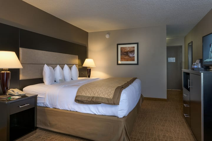 Guest room at the Wyndham Garden Boise Airport in Boise, Idaho