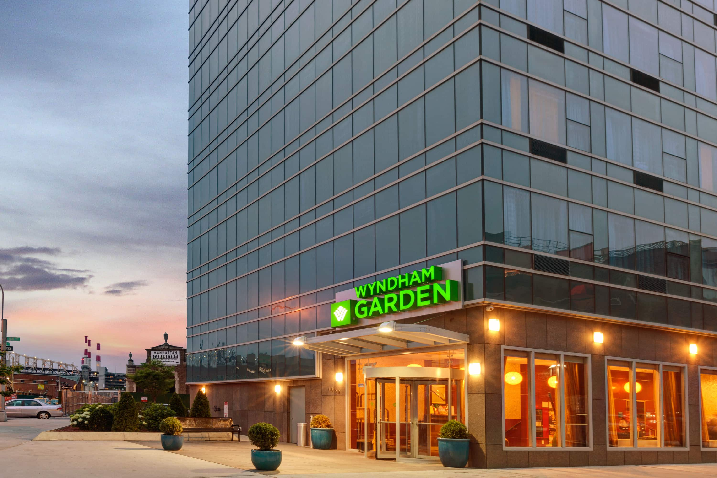 Exterior Of Wyndham Garden Long Island City Hotel In Long Island City, New  York
