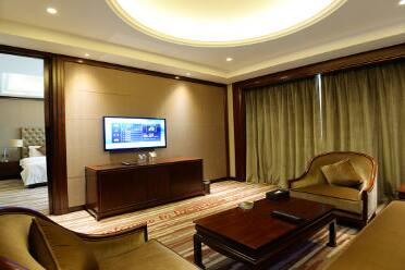 Guest room at the Wyndham Grand Plaza Royale Chenzhou in Chenzhou, Other than US/Canada
