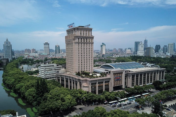Exterior of Wyndham Grand Plaza Royale Ningbo hotel in Ningbo, Other than US/Canada