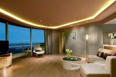 Guest room at the Wyndham Grand Qingdao in Qingdao, Other than US/Canada