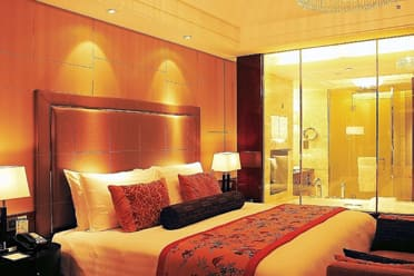 Guest room at the Wyndham Grand Plaza Royale Oriental Shanghai in Shanghai, Other than US/Canada