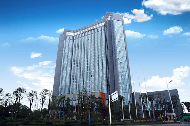 Exterior of Wyndham Grand Plaza Royale Xianglin Shaoyang hotel in Shaoyang, Other than US/Canada