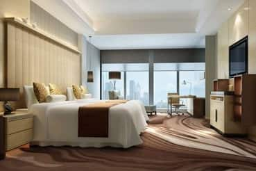 Guest room at the Wyndham Grand Shenzhen in Shenzhen, Other than US/Canada