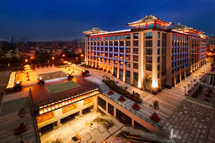 Exterior of Wyndham Grand Xian South hotel in Xian, Other than US/Canada
