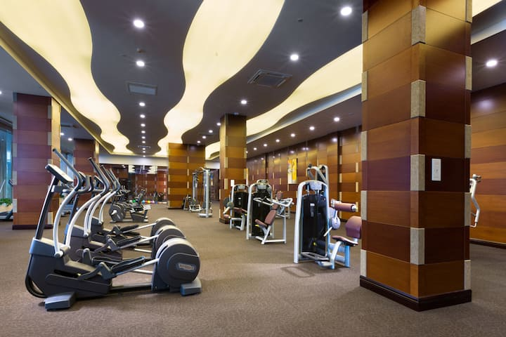 Health club at Wyndham Grand Xian Residence in Xian, Other than US/Canada