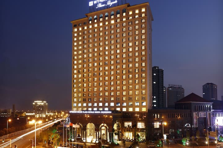 Exterior of Wyndham Grand Plaza Royale Mingfa Zhangzhou hotel in Zhangzhou, Other than US/Canada