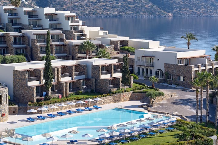 Exterior of Wyndham Grand Crete Mirabello Bay hotel in Agios Nikolaos, Other than US/Canada