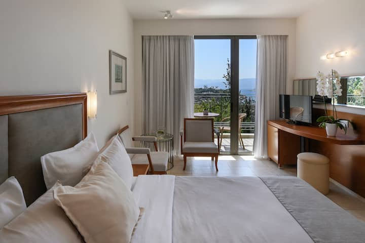 Guest room at the Wyndham Grand Crete Mirabello Bay in Agios Nikolaos, Other than US/Canada