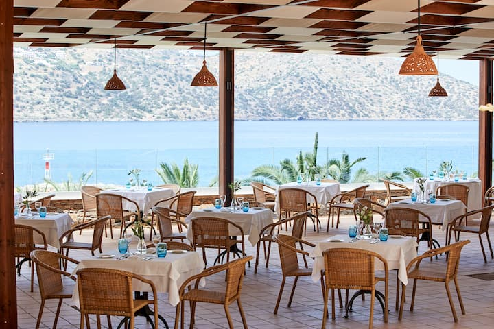 Wyndham Grand Crete Mirabello Bay restaurant in Agios Nikolaos, Other than US/Canada