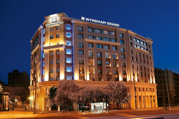 Exterior of Wyndham Grand Athens hotel in Athens, Other than US/Canada