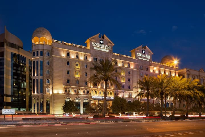 Exterior of Wyndham Grand Regency Doha hotel in Doha, Other than US/Canada