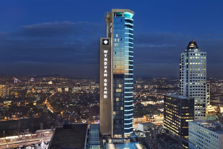 Exterior of Wyndham Grand Istanbul Levent hotel in Istanbul, Other than US/Canada