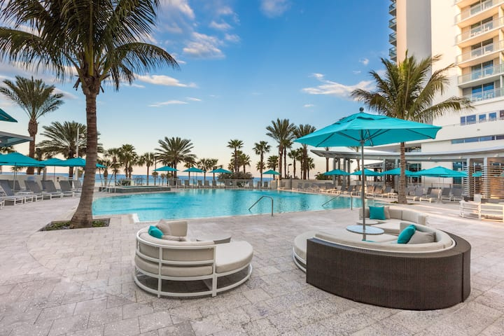 Pool at the Wyndham Grand Clearwater Beach in Clearwater, Florida