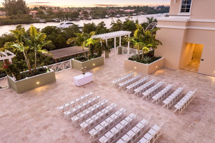 Wyndham Grand Jupiter at Harbourside Place ballroom in Jupiter, Florida