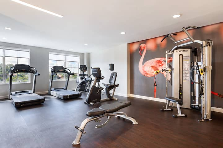 Health club at Wyndham Grand Jupiter at Harbourside Place in Jupiter, Florida