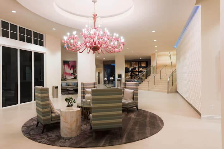 Wyndham Grand Jupiter at Harbourside Place hotel lobby in Jupiter, Florida