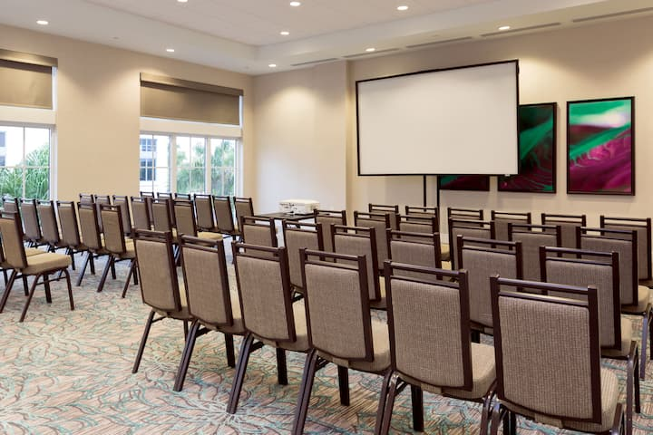 Meeting room at Wyndham Grand Jupiter at Harbourside Place in Jupiter, Florida