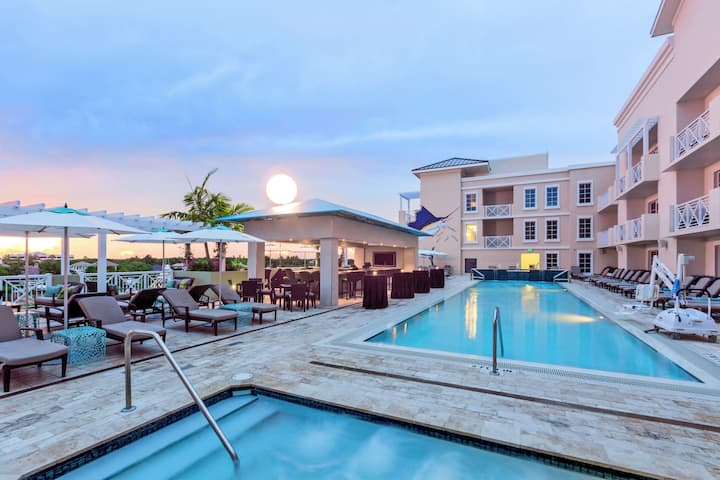 Pool at the Wyndham Grand Jupiter at Harbourside Place in Jupiter, Florida