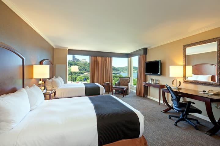 Guest room at the Wyndham Grand Pittsburgh Downtown in Pittsburgh, Pennsylvania